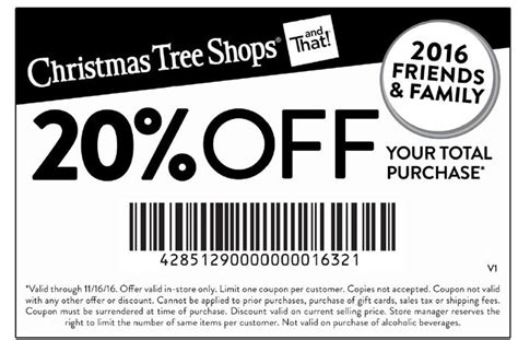 christmas tree shops coupon 20 off your entire purchase