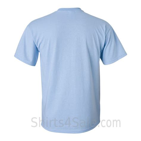 light blue shirt light blue tshirt front and back