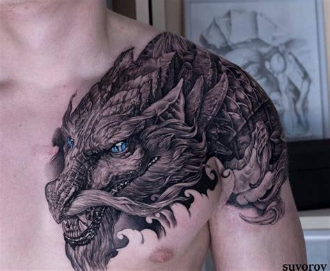 tattoo japanischer drachen auf der schulter tattoo