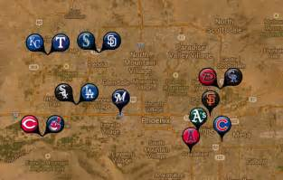 map of ballparks in arizona 2014 mlb fanfood it s gameday somewhere