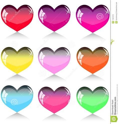 imagenes de corazones graciosos conjunto de corazones ilustraci 243 n del vector imagen de