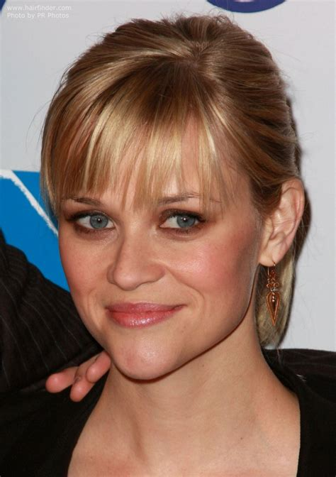 how to cut reese witherspoon bangs reese witherspoon s young and fresh ponytail with straight