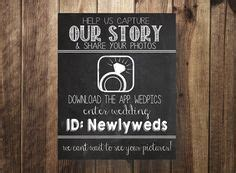 Wedpics Card Template by Instant Printable Insert Card Wedpics By