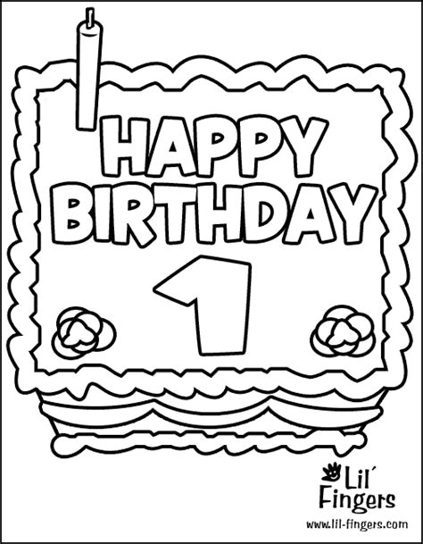 1st birthday coloring pages first birthday cake coloring