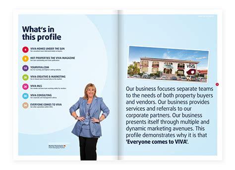 viva company profile brochure on behance