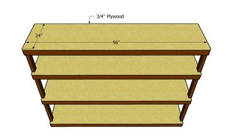 plywood garage shelf plans  woodworking