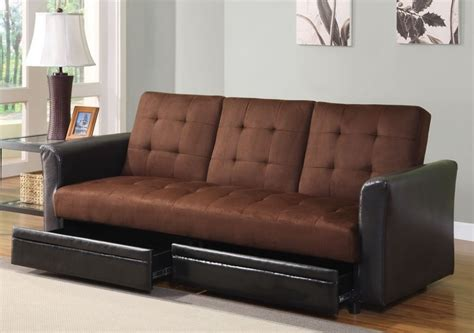 Back To Futon Sofa Bed With Storage Underneath
