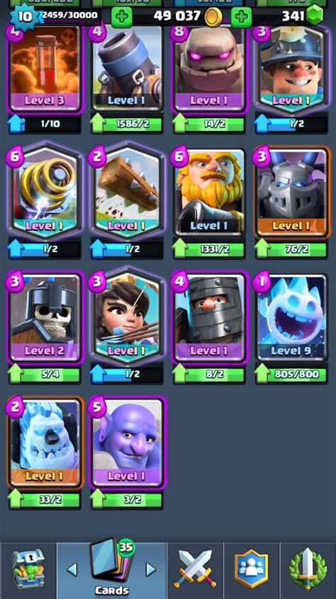 r86 clash royale lvl 10 legendary princess lvl 1 wizard lvl 1