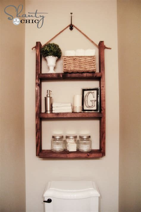 Hanging Bathroom Shelves Hanging Bathroom Shelf Step 3 Shanty 2 Chic