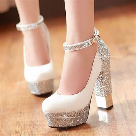 2016 thick heel ultra high heels single shoes gorgeous