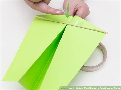 How To Make A Paper Dome Step By Step - 3 ways to make a fast kite with one sheet of paper wikihow