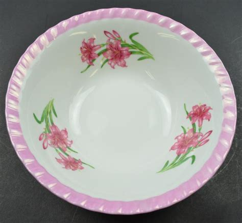 china pattern with pink flowers decorative china floral pattern pink edged bowl 7 quot round