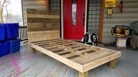 bed with pallets platform pallet bed with lights