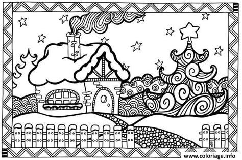 Coloriage Adulte Noel by Coloriage Adulte Noel Maison Dessin