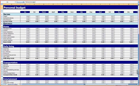 Excel Spreadsheet Template For Expenses by 7 Excel Spreadsheet Template For Expenses Excel
