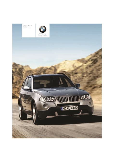 2007 bmw x3 3 0i 3 0si e83 owners manual