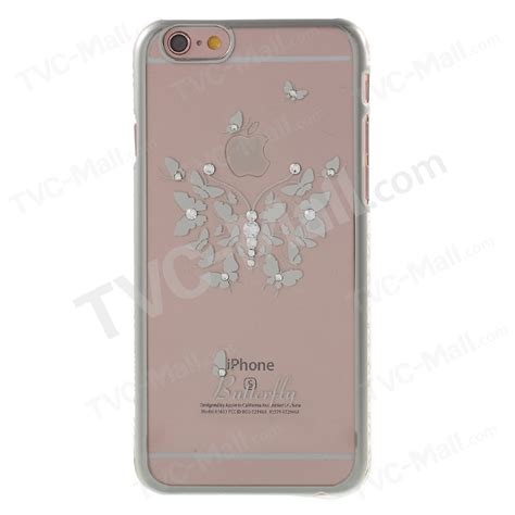 Buterfly Hardshell For Iphone 6s kavaro swarovski butterfly for iphone 6s 6 silver tvc mall