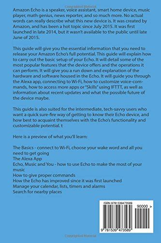 echo connect the ultimate beginner s guide to echo connect second generation echo echo plus echo spot volume 1 books echo the ultimate beginner s guide to echo