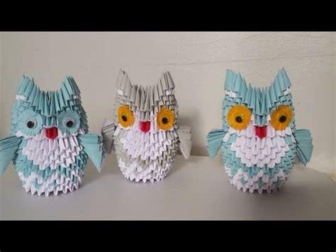 Modular Origami Owl - how to make 3d origami owl medium