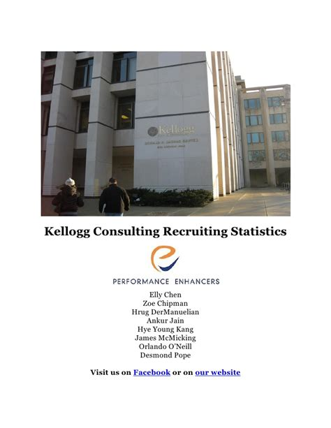 What Consulting Firms Recruit From Ucr Mba by Kellogg School Of Management Consulting Recruiting Info