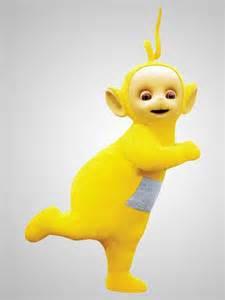 laa laa teletubby yellow curly antenna likes sing