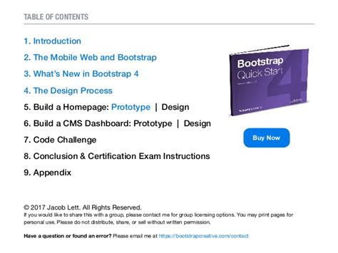 bootstrap tutorial with exles pdf bootstrap 4 tutorial pdf quick start