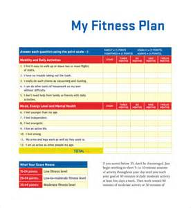 sample fitness plan template 9 free documents in pdf word