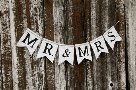 Wedding Banner Mr And Mrs by Mr Mrs Burlap Banner Wedding Banner Photography Prop