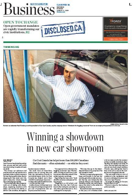 I Was Featured On The Front Page Of The Business Section