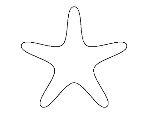printable starfish template