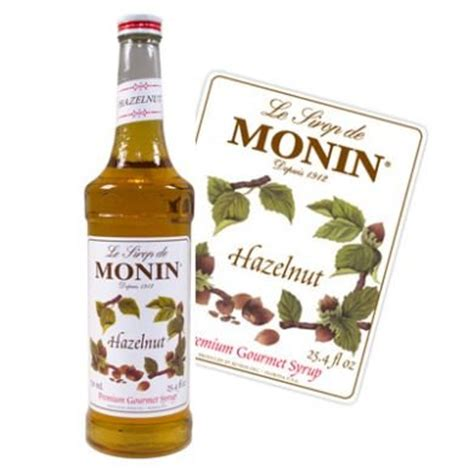 Monin Syrup Hazelnut 700 Ml Cafe Coffee Original Syrup consumables uk monin hazelnut coffee syrup 700ml glass bottle