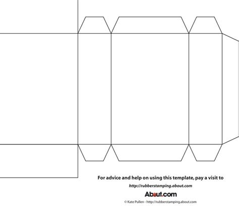 A Paper Box Template - 7 best images of printable box template basic cube gift