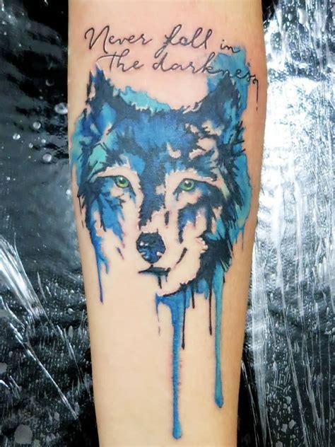 watercolor tattoo ek i watercolor wolf on muscles 187 ideas