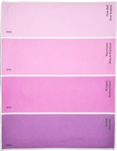 purple paint names w color names in these paint chip place