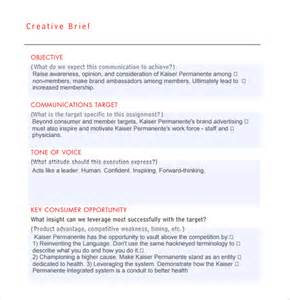 brief template sle creative brief 9 free documents in pdf word