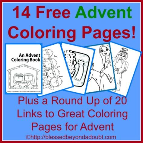 free advent coloring book plus 100 s of advent coloring
