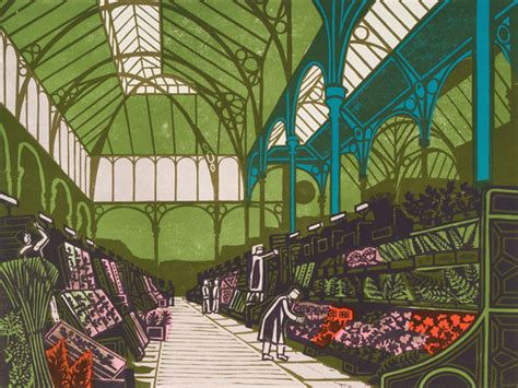 craft covent garden covent garden flower market print by edward bawden