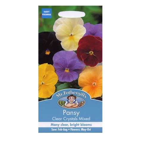 Mr Fothergills Pansy Frou Frou Mixed mr fothergill s pansy clear mix gro well direct