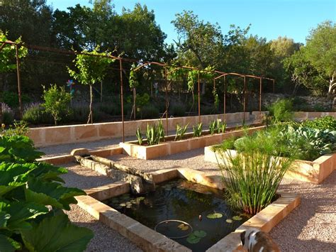 Contemporanium Mediterranean Garden Design In Mallorca Walled Kitchen Gardens