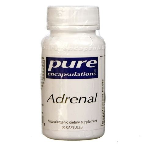 Supplement Adrenals While On A Detox by Encapsulations Adrenal 60 Capsules Evitamins