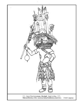 kachina doll coloring page hopi kachina doll coloring page sketch coloring page