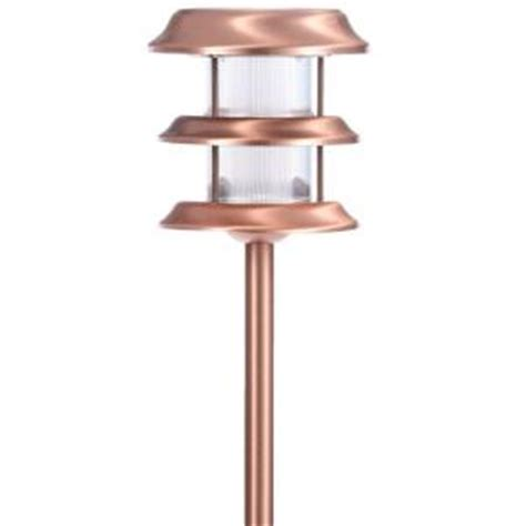Solar Light Home Depot Hton Bay Copper Outdoor Led Ground Stake Solar Light 6