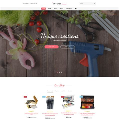 Handmade Crafts Websites - crafts hobbies website templates templatemonster