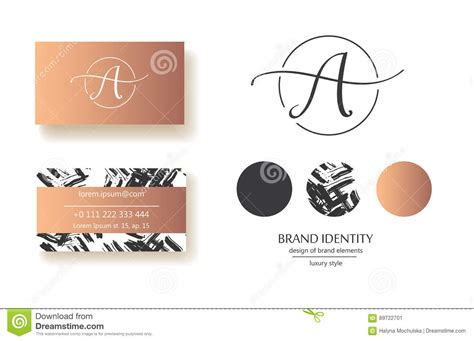 sophisticated business card template sophisticated brand identity letter a line logo business
