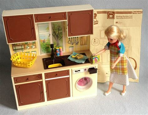 sindy doll house furniture vintage sindy working washing machine sink kitchen unit