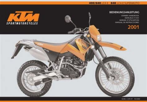 2001 Ktm 400 Exc Review 2001 Ktm 400 640 Lc4 E And 640 Lc4 E Supermoto Motorcycle