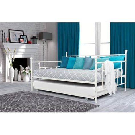 dorm bed frame full size white frame daybed with twin trundle metal day