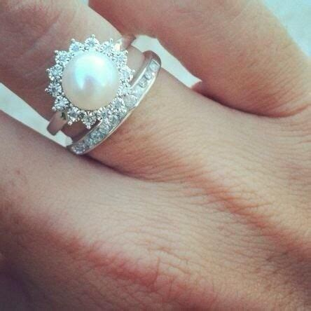 pearl and rings wedding promise