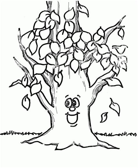 bare tree coloring page coloring home