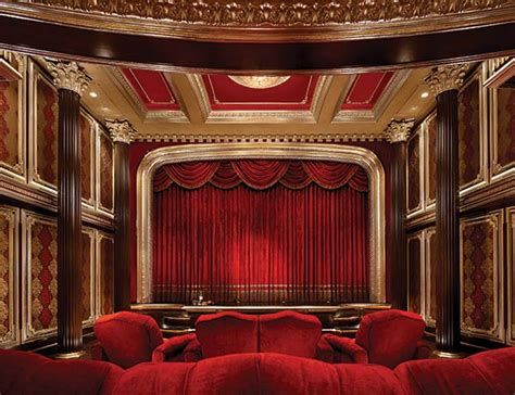 Moroccan Inspired Curtains Imax Private Theatre Delivers The Ultimate In Home